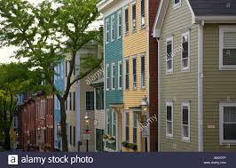 classic bostonian houses in the bunker hill neighborhood of stock