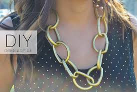 make gold chain necklace images Diy chunky chain necklace from vinyl tubes jpg