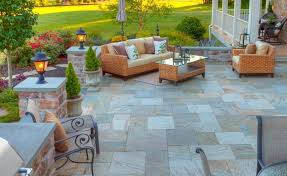 Patio Flagstone Prices Value Vs Cost To Install A Paver Or Natural Stone Patio In