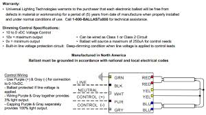 universal superdim energy management b214punvsv3 d 2 lamp f14t5