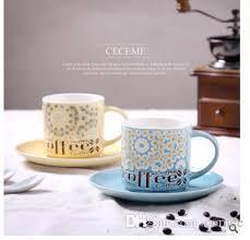 Fancy Coffee Mugs Wholesale Coffee Mugs Rural Hand Painted Coffee Cups And Saucers