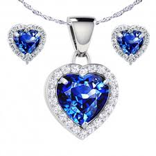 sapphire earrings necklace set images Pws036cbse22 sterling silver heart shaped created sapphire pendant jpg