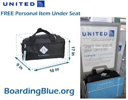 united airline carry on interior design