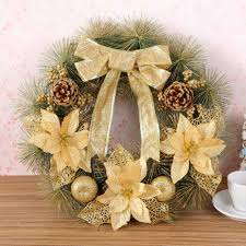 Flowers Decoration For Home Compare Prices On Pine Christmas Wreaths Online Shopping Buy Low