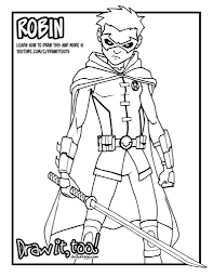 damian wayne robin comic version tutorial u2013 draw it too
