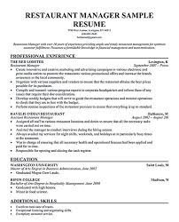 sample marketing director resume restaurant manager resume sample msbiodiesel us bakery manager resume marketing manager resume free resume restaurant general manager resume