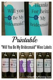 halloween wine labels printable will you be my bridesmaid wine labels