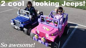 jeep power wheels black 2 cool looking jeep wranglers fisher price ride on power wheels
