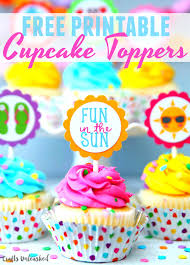 cupcake toppers summer cupcake toppers free printables consumer crafts
