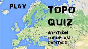 West Europe Map Topo Quiz Western European Capitals Youtube