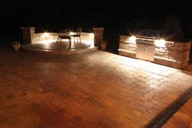 lighting ideas outdoor lamps for patio with bric paving ideas and