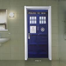 Tardis Interior Door Blue Wall Decal Doctor Who Tardis Door Graphic Unique Fathead