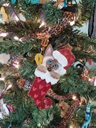 siamese cat ornament personalize ornament cat