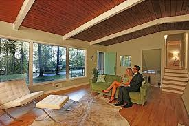 Midcentury Modern Living Room - staging a mid century modern house the don draper way hooked on