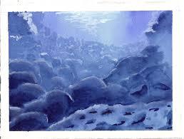 david winters u2014 underwater scene in watercolor