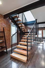 impressive modern stairs wooden railing designs interior designs