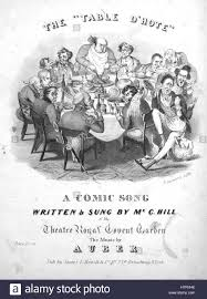 Sheet Music Cover by Sheet Music Cover Image Of The Song U0027the U0027table D U0027hote U0027 A Comic