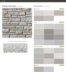 golden buckeye limestone cultured stone boral stone ppg paints