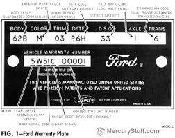1965 ford and mercury identification