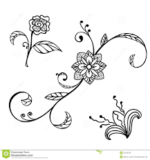 sketch floral ornament stock photography image 35758782
