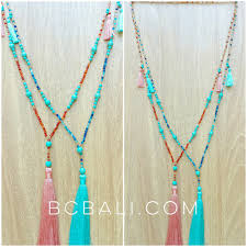 handmade long necklace images Beads turquoise tassels necklaces pendant handmade beads jpg