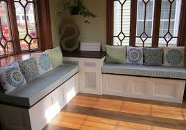 kitchen table square corner with storage bench metal reclaimed
