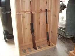 Glass Gun Cabinet Furniture Cozy Concrete Flooring With Oak Wood Gun Cabinets Wooden
