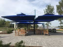 13 Foot Cantilever Patio Umbrella by Belham Living 13 Ft Rotating Offset Umbrella With Tilt And Base