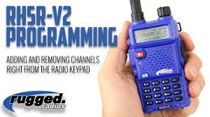 Rugged Ham Radio Rugged Radios Rh5rv2 How To Add And Rename Channels Youtube