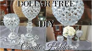 Candle Pedestals Diy Dollar Tree Bling Candle Holders 2017 Petalisbless Youtube