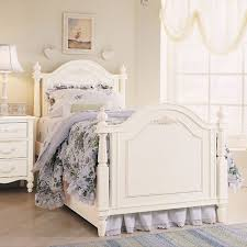 Young America Bedroom Furniture by European Low Post Twin Bed In Antique White And Heirloom Quality