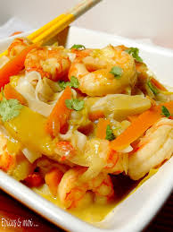 cuisiner des gambas wok d endives de mangue aux gambas épices moi