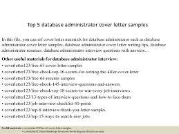 Dba Resume Sample by Top 5 Database Administrator Cover Letter Samples 1 638 Jpg Cb U003d1434615039