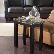 splendid living room decorating idea has a narrow white end table