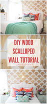 non permanent wall paper diy wood scalloped wall tutorial diy wood tutorials and woods