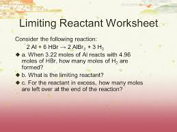 limiting reactants u0026 percent yield definitions limiting