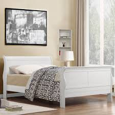 Modern Sleigh Bed Sleigh Beds Full Size Product Options Homesfeed