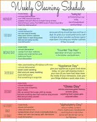 cleaning report template weekly houseg schedule mycleaning printable sales report template