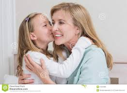 girls kissing in bed cute little kissing her mother stock photo image 51084686