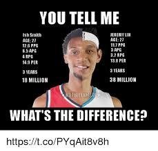 Jeremy Lin Meme - you tell me jeremy lin ish smith age 27 age 27 117 ppg 126 ppg 3 apg