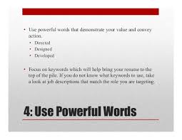 Resume Words To Use Great Resumes Are Powerful Marketing Documents