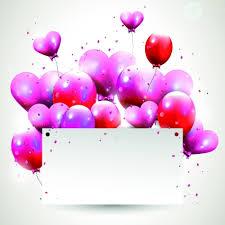 happy birthday balloons of greeting card vector free vectors