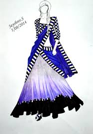 fashion illustration of indian wear google search glam
