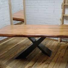 tavoli moderni legno tavoli in legno massello e gambe in ferro