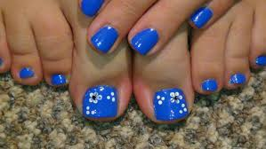 pedicure designs for summer flower free here