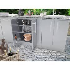 kitchen sink cabinet height sunstone designer 24 in w x 28 25 in d x 34 5 in h outdoor kitchen cabinet