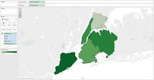 New York Borough Map by Power Tools For Tableau