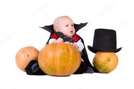 Boys Pumpkin Halloween Costume Baby Boy Black Halloween Costume Pumpkins U2014 Stock Photo