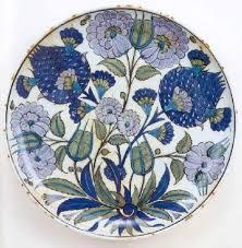 Ottoman Pottery And Ottoman Pottery Rimless Shallow Dish Homayzi Collection