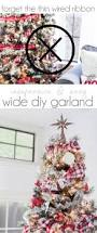 Easy Diy Christmas Ornaments Pinterest Top 25 Best Ribbon On Christmas Tree Ideas On Pinterest